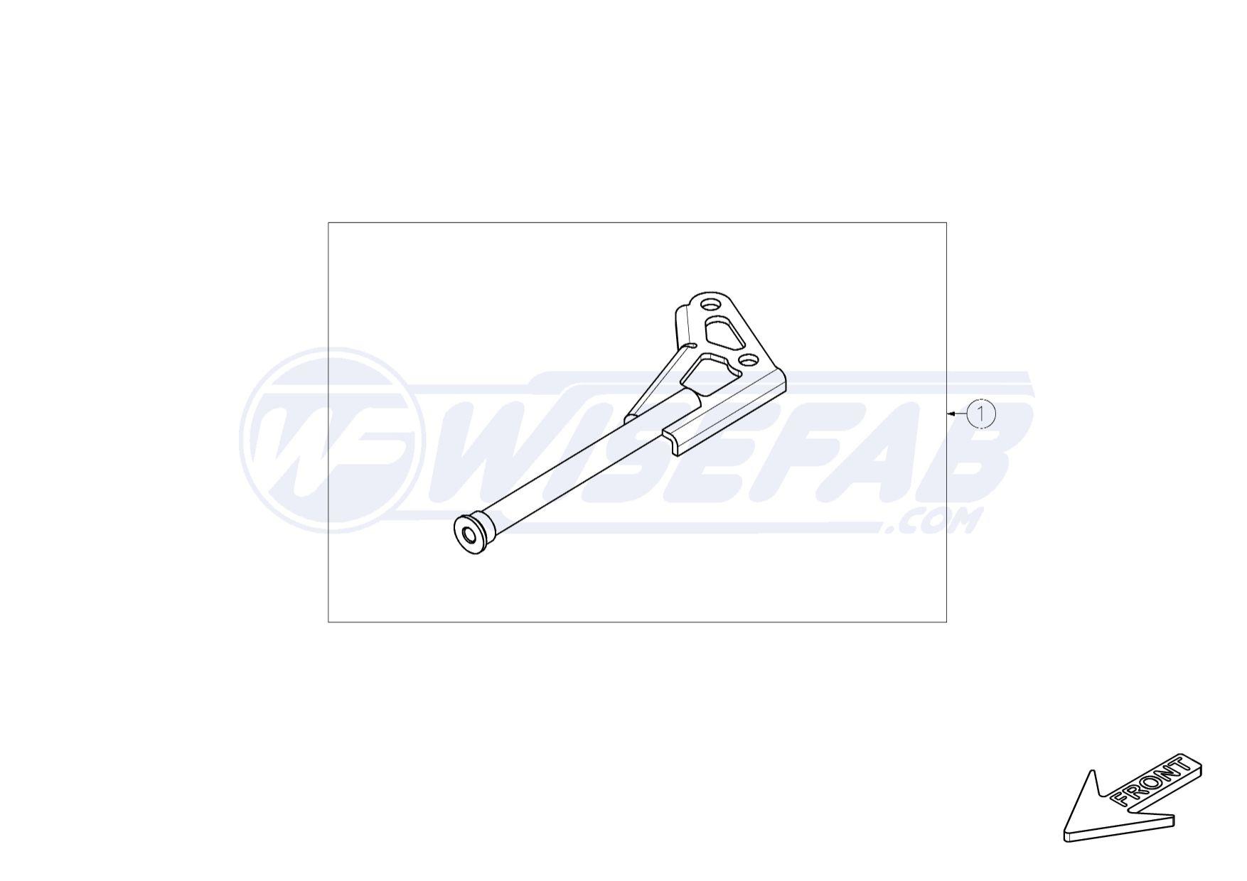 Front Lien Anti Roll Bar stabilisateur Fortune ligne FZ7288